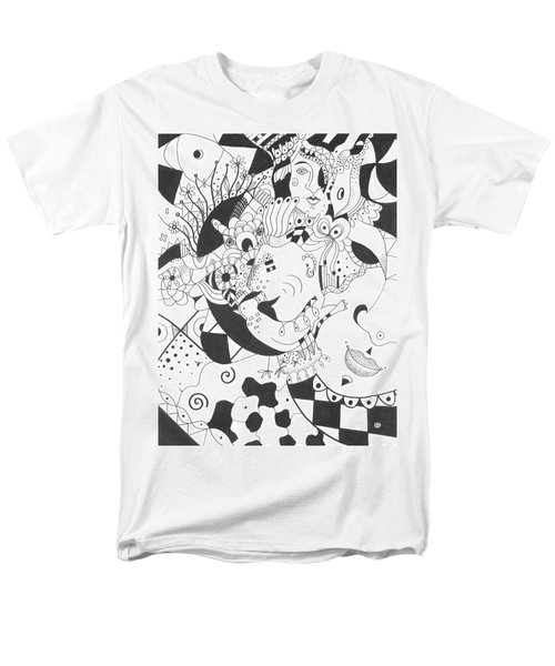 Creatures And Features Men's T-Shirt  (Regular Fit) by Helena Tiainen