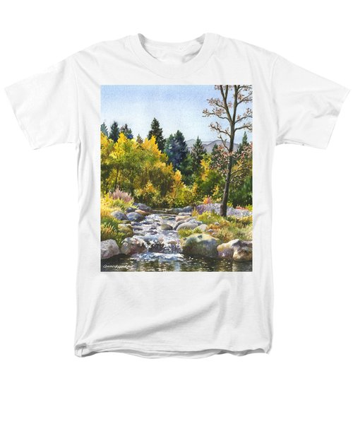 Men's T-Shirt  (Regular Fit) featuring the painting Creek At Caribou by Anne Gifford