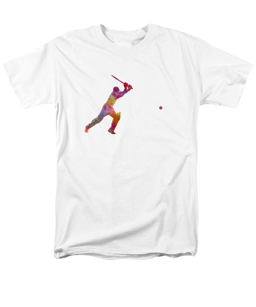 Cricket Player Batsman Silhouette 04 Men's T-Shirt  (Regular Fit) by Pablo Romero