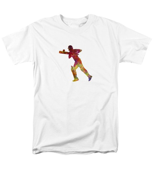 Cricket Player Batsman Silhouette 06 Men's T-Shirt  (Regular Fit) by Pablo Romero