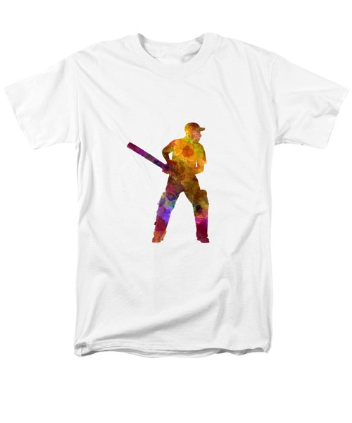 Cricket Player Batsman Silhouette 07 Men's T-Shirt  (Regular Fit)