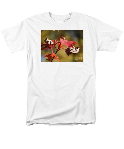 Men's T-Shirt  (Regular Fit) featuring the photograph Crimson Fall by J L Zarek