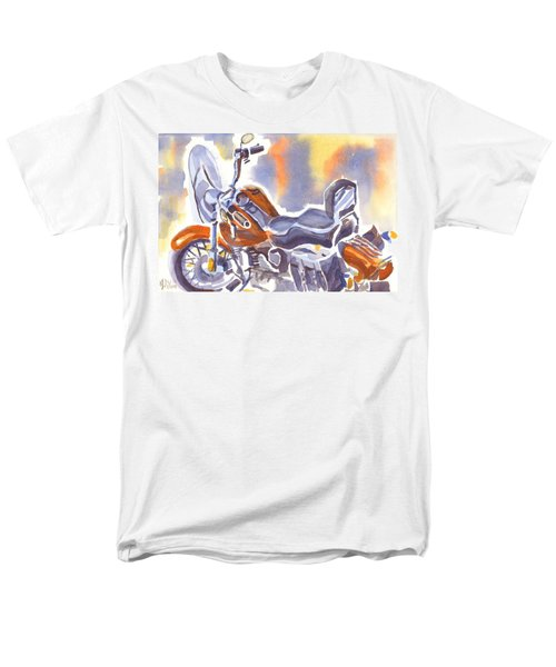 Crimson Motorcycle In Watercolor Men's T-Shirt  (Regular Fit)