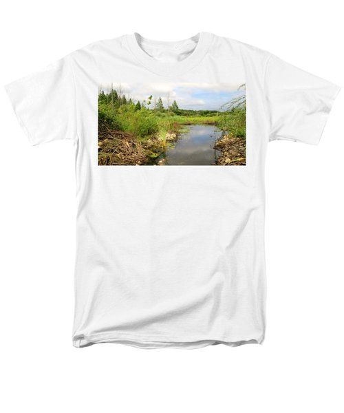 Crooked Creek Preserve Men's T-Shirt  (Regular Fit) by Kimberly Mackowski