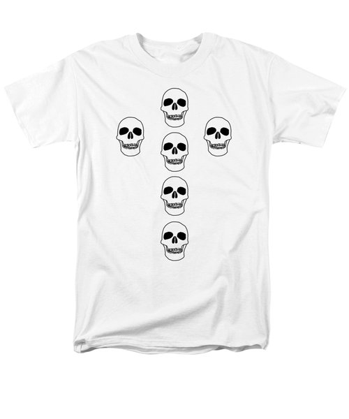 Cross In Skulls Clothing And Decor Men's T-Shirt  (Regular Fit) by Linsey Williams