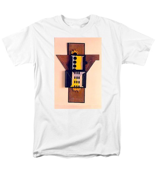 Men's T-Shirt  (Regular Fit) featuring the sculpture Crucifiction by Al Goldfarb