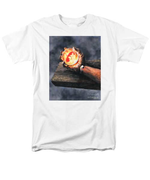 Men's T-Shirt  (Regular Fit) featuring the painting Crucifixion Version One Glen Concept by Dave Luebbert