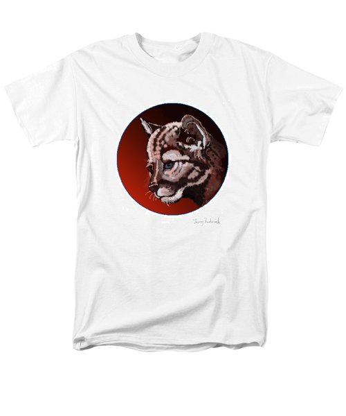 Men's T-Shirt  (Regular Fit) featuring the drawing Cub by Terry Frederick