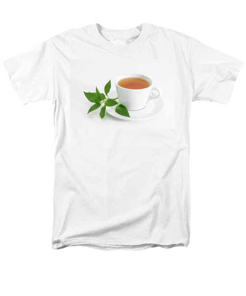 Cup Of Tea With Fresh Mint Men's T-Shirt  (Regular Fit) by GoodMood Art