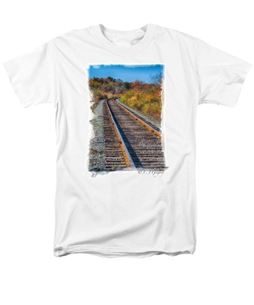 Men's T-Shirt  (Regular Fit) featuring the photograph Curved Track by Constantine Gregory