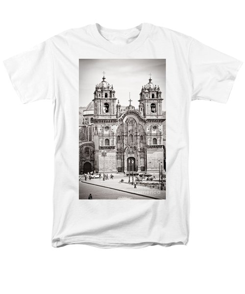 Cusco Cathedral Men's T-Shirt  (Regular Fit) by Darcy Michaelchuk