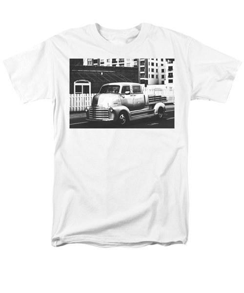 Men's T-Shirt  (Regular Fit) featuring the photograph Custom Chevy Asbury Park Nj Black And White by Terry DeLuco