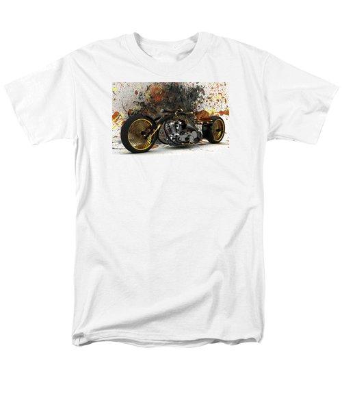 Custom Chopper Gold Men's T-Shirt  (Regular Fit) by Louis Ferreira