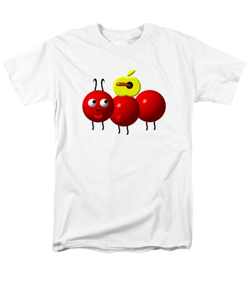 Cute Ant With An Apple Men's T-Shirt  (Regular Fit) by Rose Santuci-Sofranko