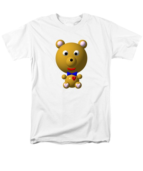 Cute Bear With Bow Tie Men's T-Shirt  (Regular Fit)