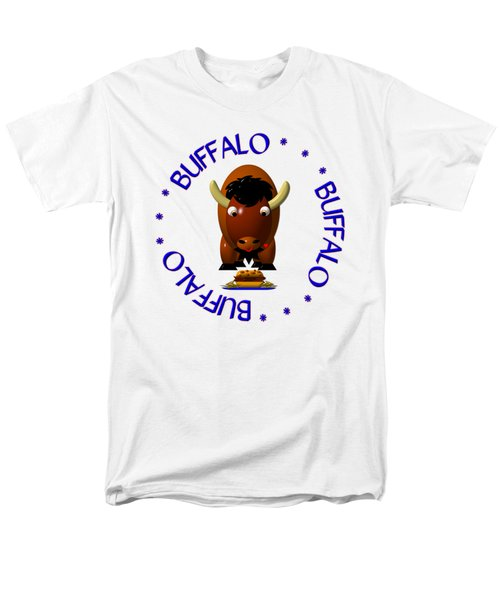 Cute Buffalo With Beef On Weck And Buffalo Wings Men's T-Shirt  (Regular Fit) by Rose Santuci-Sofranko