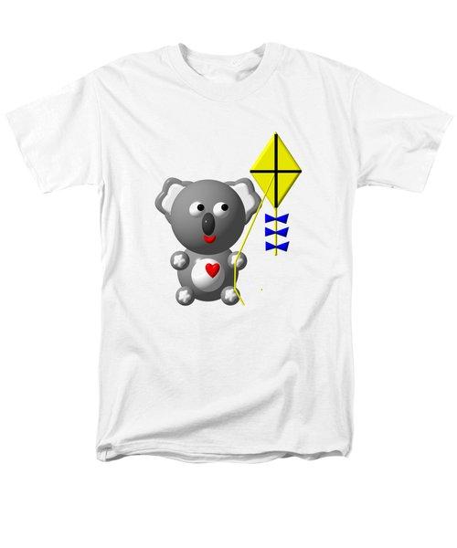 Cute Koala With Kite Men's T-Shirt  (Regular Fit)