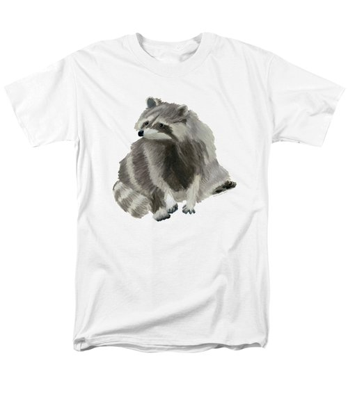 Cute Raccoon Men's T-Shirt  (Regular Fit) by Dominic White
