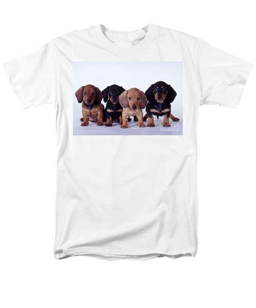 Dachshund Puppies  Men's T-Shirt  (Regular Fit) by Carolyn McKeone and Photo Researchers