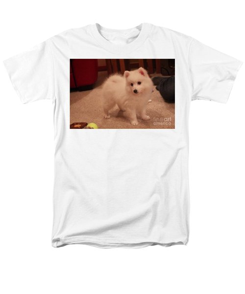 Men's T-Shirt  (Regular Fit) featuring the photograph Daisy - Japanese Spitz by David Grant