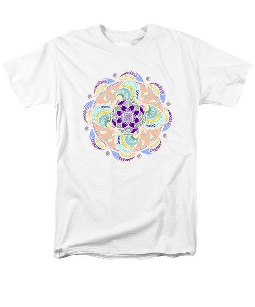 Daisy Lotus Meditation Men's T-Shirt  (Regular Fit) by Deborah Smith