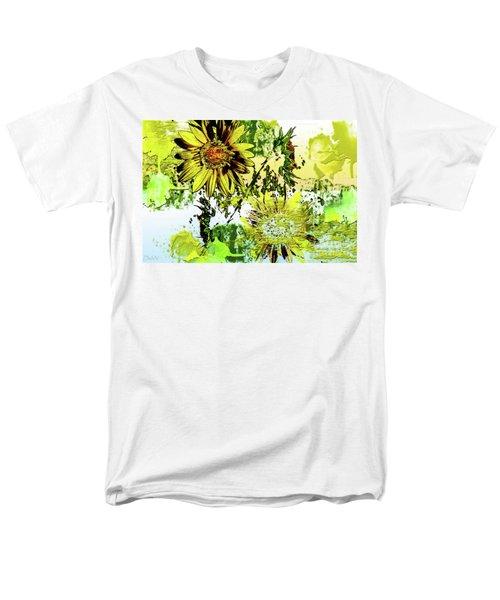 Sunflower On Water Men's T-Shirt  (Regular Fit) by Deborah Nakano
