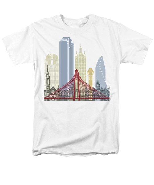 Dallas Skyline Poster Men's T-Shirt  (Regular Fit) by Pablo Romero