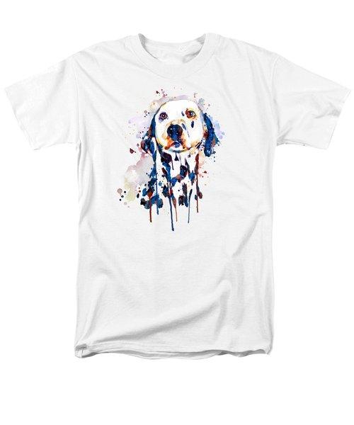 Dalmatian Head Men's T-Shirt  (Regular Fit) by Marian Voicu