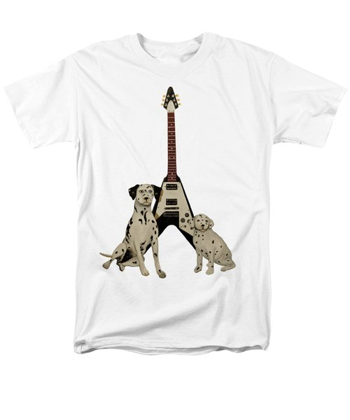 Dalmation Pups And The Flying V Men's T-Shirt  (Regular Fit) by John Stuart Webbstock