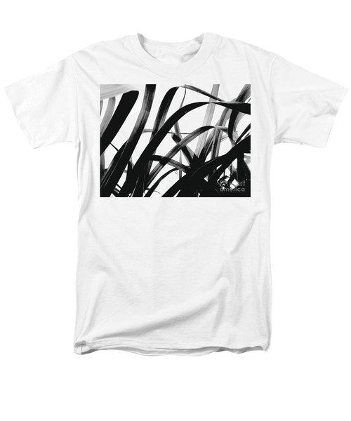 Dancing Bamboo Black And White Men's T-Shirt  (Regular Fit) by Rebecca Harman