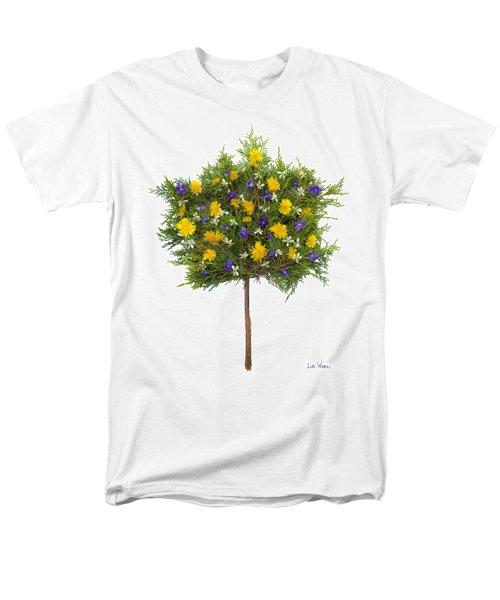 Men's T-Shirt  (Regular Fit) featuring the photograph Dandelion Violet Tree by Lise Winne