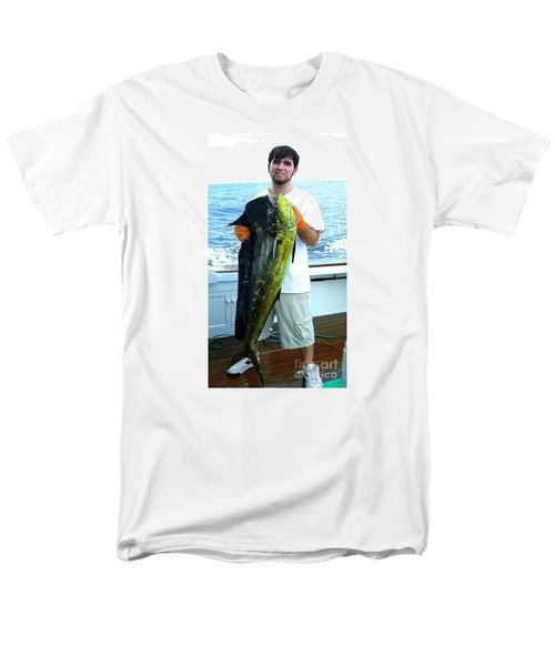 Danny Caught A Huge Dolphin Fish Men's T-Shirt  (Regular Fit) by Merton Allen