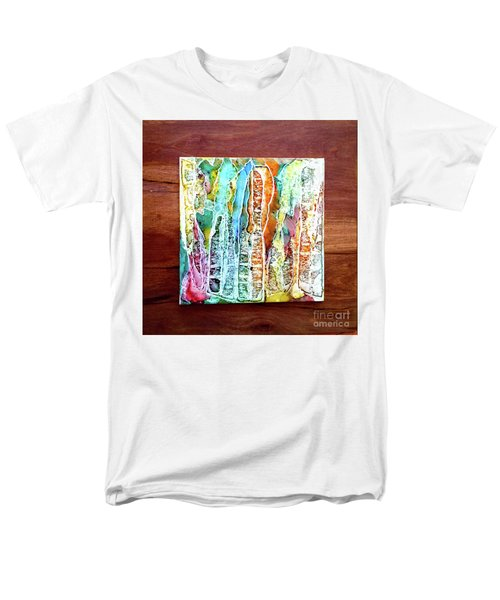Danxia Water Falls Men's T-Shirt  (Regular Fit) by Alene Sirott-Cope