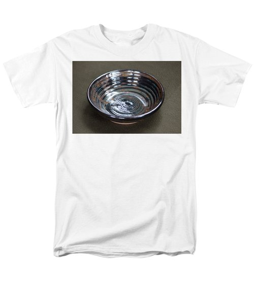 Dark Brown And Red Ceramic Bowl Men's T-Shirt  (Regular Fit) by Suzanne Gaff