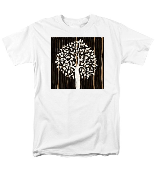 Men's T-Shirt  (Regular Fit) featuring the painting Dark Winter by Patricia Arroyo
