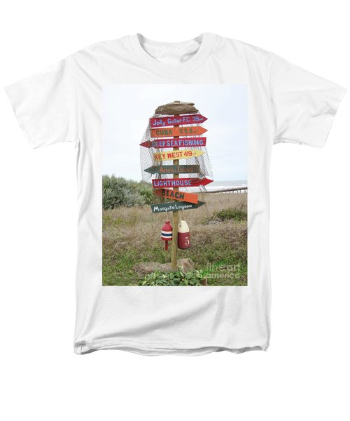 Men's T-Shirt  (Regular Fit) featuring the photograph Daytona Crossroads by Dodie Ulery