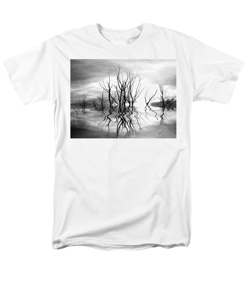 Men's T-Shirt  (Regular Fit) featuring the photograph Dead Trees Bw by Susan Kinney