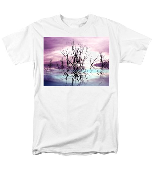 Men's T-Shirt  (Regular Fit) featuring the photograph Dead Trees Colored Version by Susan Kinney