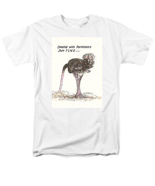 Men's T-Shirt  (Regular Fit) featuring the drawing Dealing Just Fine by Denise Fulmer