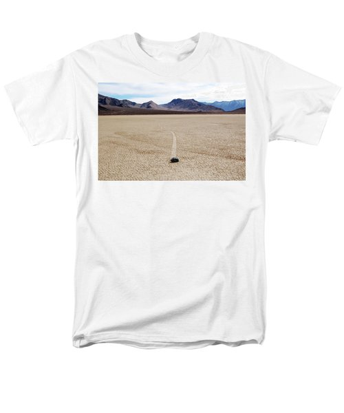 Men's T-Shirt  (Regular Fit) featuring the photograph Death Valley Racetrack by Breck Bartholomew