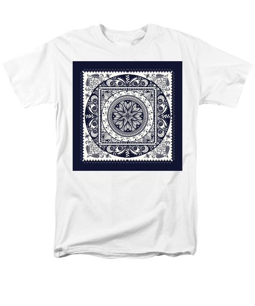 Deep Blue Classic Mandala Men's T-Shirt  (Regular Fit) by Deborah Smith