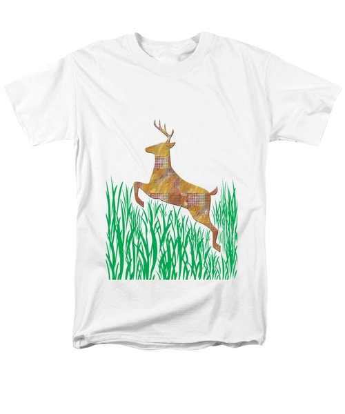 Deer In Grass Men's T-Shirt  (Regular Fit) by Aimee L Maher Photography and Art Visit ALMGallerydotcom