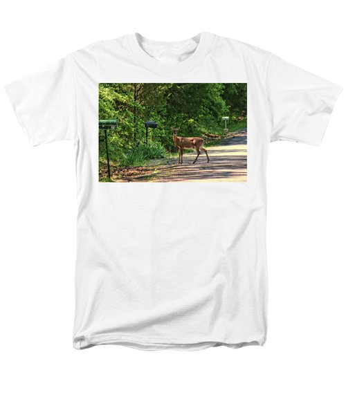 Men's T-Shirt  (Regular Fit) featuring the photograph Deer Loves Flowers by Rick Friedle
