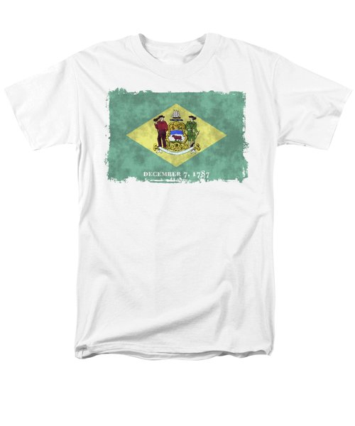 Delaware Flag Men's T-Shirt  (Regular Fit) by World Art Prints And Designs