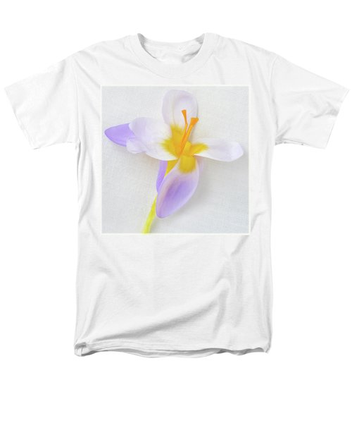 Men's T-Shirt  (Regular Fit) featuring the photograph Delicate Art Of Crocus by Terence Davis