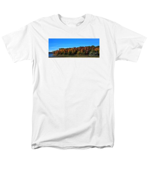 Men's T-Shirt  (Regular Fit) featuring the photograph Delta Lake State Park Foliage by Diane E Berry