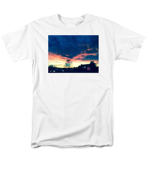 Men's T-Shirt  (Regular Fit) featuring the painting Dense Sunset by Angela Annas