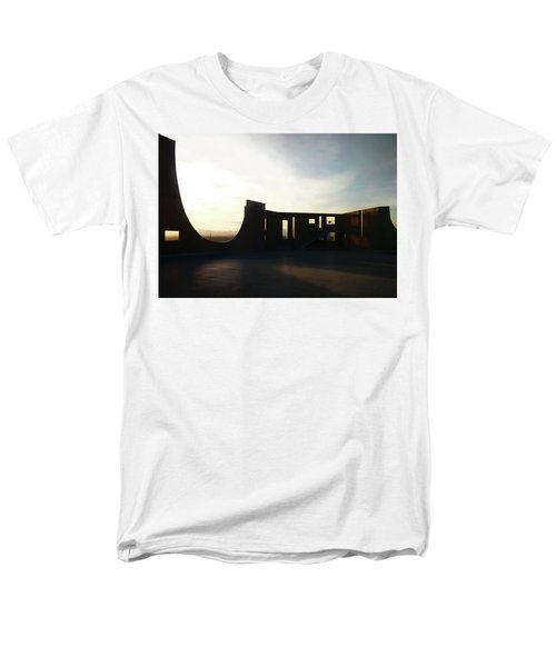 Men's T-Shirt  (Regular Fit) featuring the photograph Denver Art Museum Ponti Deck by Marilyn Hunt