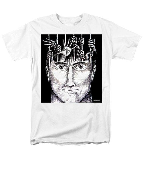 Deprivation Of Freedom Of Expression Men's T-Shirt  (Regular Fit) by Paulo Zerbato
