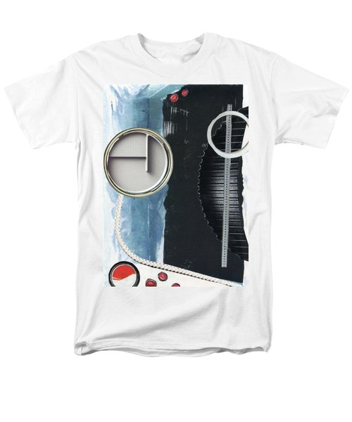 Men's T-Shirt  (Regular Fit) featuring the painting Depth Onto Space by Michal Mitak Mahgerefteh